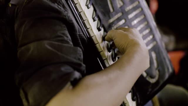 Man playing accordion