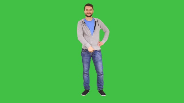 Man pointing on copy space
