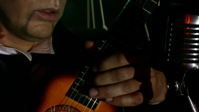 man - puppet with guitar