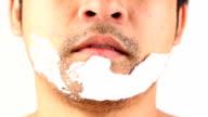 Uomo Radersi la barba