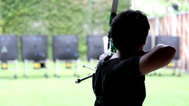Man shooting bow.