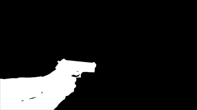 Man Shooting Gun - Silhouette
