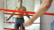 Man skipping rope in a ring