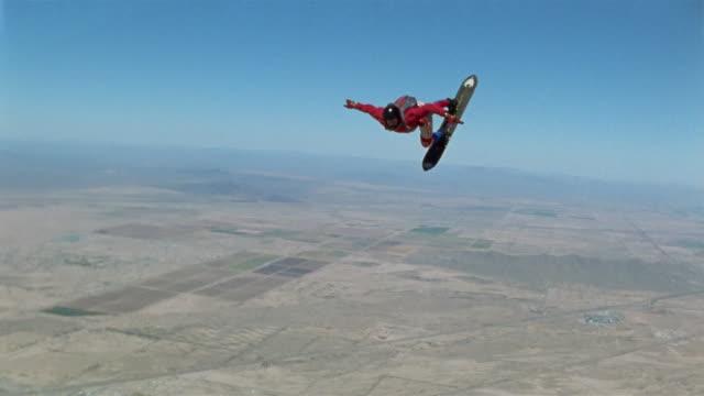 AIR TO AIR, MS, Man skydiving, Eloy, Arizona, USA