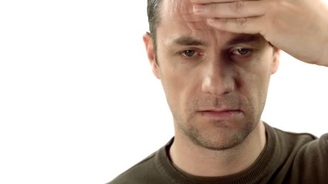 HD: Mann leiden einem Kopfschmerz
