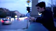 Man surfing the net on digital tablet