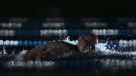 Man Swimming Front Crawl