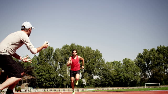 Man training for triathlon