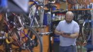 Man using tablet in workshop