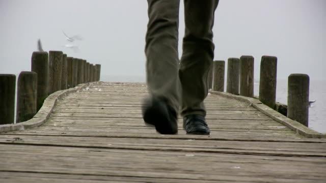 Man walking back
