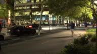 Man Walking His Dog, Hoboken NJ - Night Time