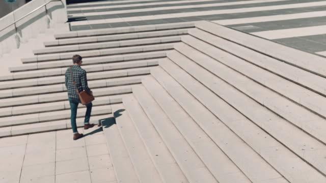 Man walking in urban setting