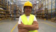 Man working at a warehouse