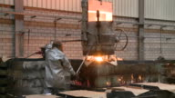 MS Man working in foundry / Langenfeld, North Rhine-Westphalia, Germany
