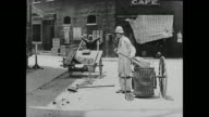 Buster Keaton works as a street sweeper and becomes annoyed when he realizes his faulty trash can is leaving a trail of garbage