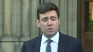 Manchester Arena attack Manchester Town Hall Andy Burnham set up shot / statement to press SOT After our darkest of nights Manchester is today waking...