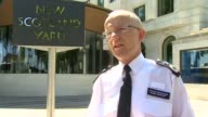 Mark Rowley interview ENGLAND London New Scotland Yard EXT Assistant Commissioner Mark Rowley interview SOT re threat level reduced from critical to...