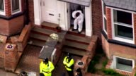 More details about Salman Abedi emerge ENGLAND Greater Manchester Wigan forensic officers police and bomb disposal units outside terraced houses