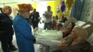 Queen visits the injured in hospital Manchester Queen Elizabeth II greeted on arrival at Royal Manchester Children's Hospital Royal Manchester...