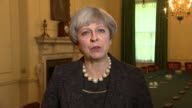 Theresa May statement ENGLAND London Downing Street INT Theresa May interview SOT have just chaired COBRA meeting / extraordinary response of police...