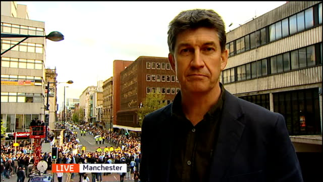 Manchester City victory parade following Premier League win