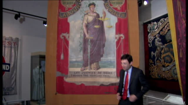 Manchester INT Andy Burnham MP launching his bid for the Labour leadership race at the People's History Museum