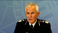 Sir Peter Fahry press conference ENGLAND London INT Sir Peter Fahy press conference SOT As you're aware the Greater Manchester police has been...