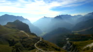 AERIAL Mangart Mountain Pass