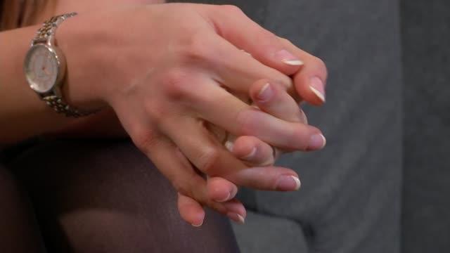 Mangle nightclub acid attack victim interview ENGLAND London INT Sophie Hall set up shot / interview SOT
