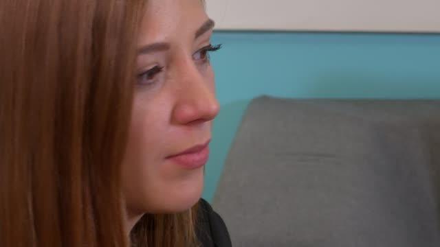 Mangle nightclub acid attack victim interview ENGLAND London INT Sophie Hall interview SOT