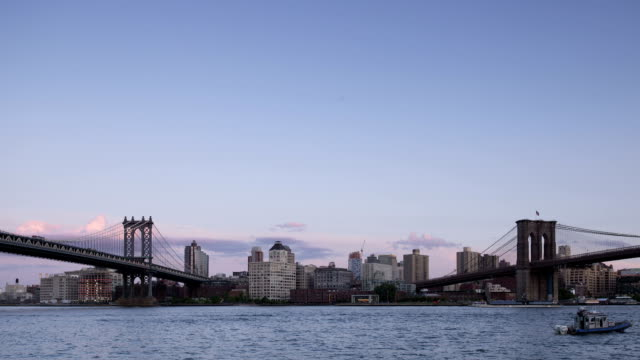 Manhattan and Brooklyn Bridge Time Lapse Panorama