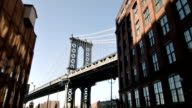 Manhattan bridge on a sunny day