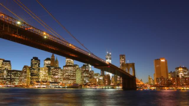 Manhattan Bridge sunset New York City