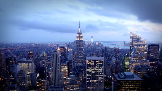 Manhattan day to night, New York