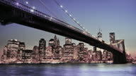 Manhattan, New York City. Spectacular sunset city view.
