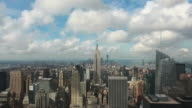 Manhattan Skyline with Empire State Building Timelapse