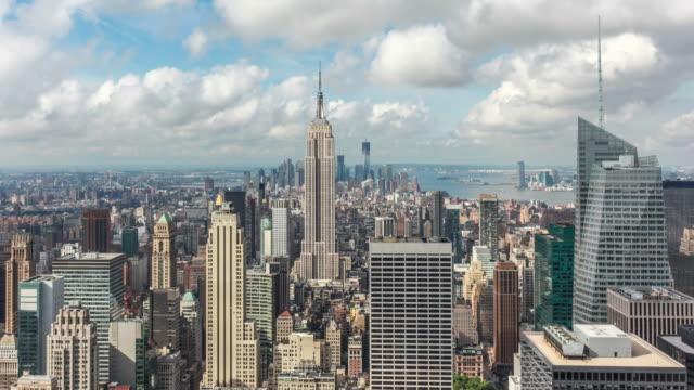 Skyline von Manhattan mit Empire State Gebäude Timelapse