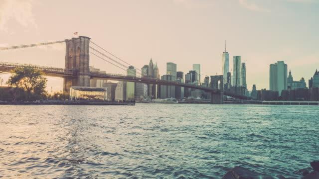 Manhattan Timelapse at Sunset, New York City