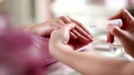 Manicure Treatment. Polishing