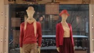 Mannequins stand lined up in a display at a Uniqlo Co store on 5th Avenue in New York US on Tuesday Jan 21 Close up of three mannequins wearing...