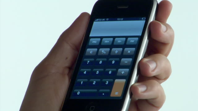 Ecu Mans Hand Using Calculator On Mobile Phone London
