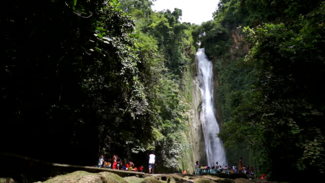 Mantayupan Falls from Low Perspective