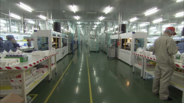 WS Manufacturing room at Suntech Power Holdings factory producing solar photovoltaic cells and modules, Wuxi, Jiangsu, China