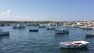 Many boats at the fishing port of Portopalo di Capo Passero, Sicily