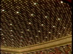 Many lights close together glitter glitz HA LS Flamingo Hotel Casino lights PAN to Bally's marquee w/ Sammy Davis Jr Jerry Lewis listed under...