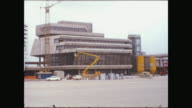 Many shots of the building place of the new airport 'Otto Lilienthal' Tegel main building additional buildings many long shots no workers there /...