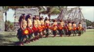 MS Many teenage girls doing hula / Honolulu, Hawaii, United States