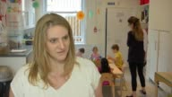 Many working parents could miss out on 30 hours free childcare ENGLAND London INT Various shots of Jodie Blum playing with children in nursery SOT...