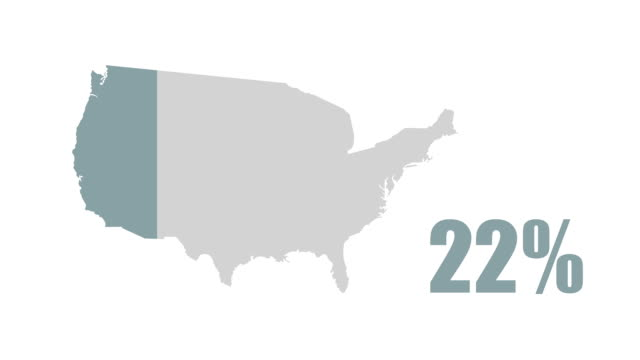 USA map 100% info graphic