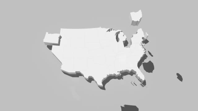 USA map by states 4K